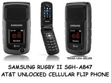 Samsung Rugby II A847at&t GSM Unlocked 3G Cell Flip Phone -Easy 2 Use -Good