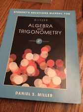 Student's solution manual For Algebra And Trigonometry 4th Edition Textbook