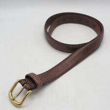 Brown Genuine Leather Belt w/ Gold Buckle 36