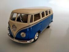 VW Bus Combi Volkswagen 1962 nouveau bleu et blanc ,13cm, neuf, metal