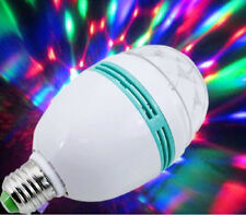 E27 3W RGB Crystal Magic Ball Rotating LED Stage Light Bulb Club DJ Disco Party
