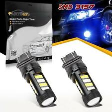 2x 3157 Off-road Blue/Amber Front Turn Signal Light LED bulb Switchback Lamp