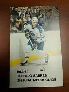 Vintage Hockey NHL 1983-84 BUFFALO SABRES Media Fact Gude MIKE RAMSEY Cover