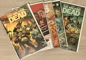 The Walking Dead Issue #1 (5) Variants of Deluxe Color Edition ROBERT KIRKMAN 🔥