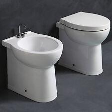Sanitari alti bagno in ceramica H50 cm per disabili anziani terza età con sedile