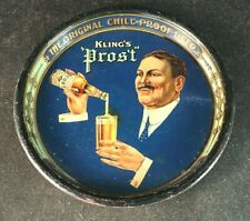 Vintage KLING'S PROST CHILL PROOF BEER TIP TRAY Rare Old Advertising Sign