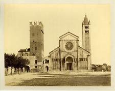 Italie, Vérone, Verona, basilica di San Zeno Italy. Vintage albumen print.  Ti