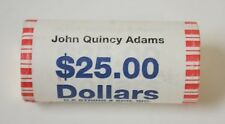 "2008 P John Quincy Adams Presidential ""Unopened"" BankWrapped Dollar 25 Coin ROLL"