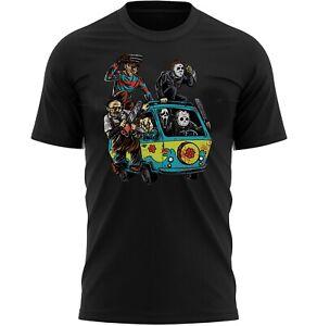 Halloween Mystery Machine Horror T-Shirt Adults Novelty Shirt Top Gift For Men