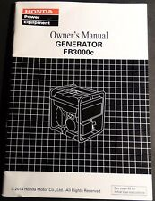 2014 Honda Power Generator Eb3000c Owner'S Manual (822)