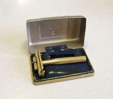 VINTAGE KING OSCILLATING SAFETY RAZOR 24K GOLD 1930'S