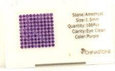 new loose natural purple amethyst 1.5mm round cut gemstones 0.03ct each