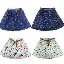 Summer Women Polka Dots Pleated Mini Chiffon Short Skirt Pants With Waistband