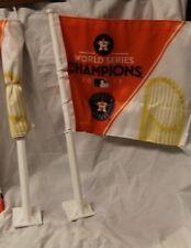 (2) Houston Astros WinCraft 2017 World Series Champions Celebration Car Flag