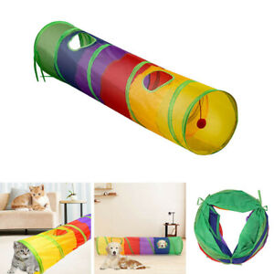 1x Pet Cat Tunnel Toy Rabbit Tube Collapsible 2 Way Vents Puppy Kitten Play Toy