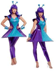 Alien Lady Costume Adults Fancy Dress Aliens Awakening Outfit UK 4-18