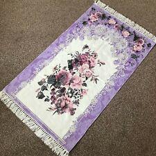Bazachi Digital Floral Cotton Prayer Rug(Adult)-Large Prayer Mat-125x67cm-Purple
