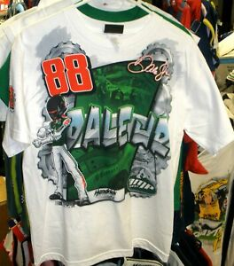 VINTAGE OUTERSTUFF #88 AMP YOUTH TEE TOTAL PRINT DALE EARNHARDT JR XL XLARGE NEW