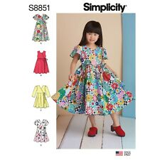 Simplicity SEWING PATTERN S8851 Child's Wrap Dresses Age 3-8