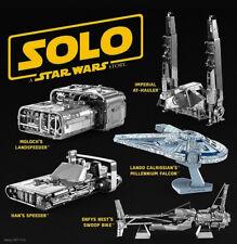 Metal Earth Solo A Star Wars Story 3D Laser Cut Metal Miniature DIY Model Kits