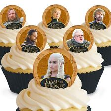 Cakeshop 12 x PRE-CUT Game of Thrones Edible Cake Toppers