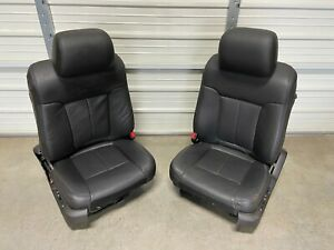 Ford F150 F-150 Platinum BLACK leather front Seats 2009 2010 2011 2012 2013 2014