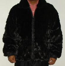 MEN'S Ranch Mink & Leather Reversible fur Jacket Size 42-44 FREE SHIP EXCELL CON