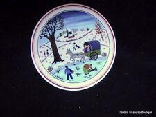 Villeroy & Boch Naif Christmas Trinket/Jewelry Box w/Lid Village Winter Scene