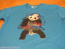 Boy's youth Quiksilver surf skate t shirt S kids pandamani TBAR turquoise panda