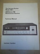 Harman Kardon Service Manual~100+ Receiver~Original~Repair