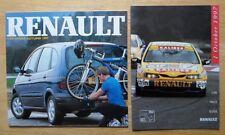 Intervallo RENAULT ORIG 1997 UK inchiostri vendite BROCHURE + LISTINO PREZZI-SPIDER CLIO SAFRANE