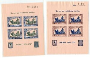 Pi de Llobregat ( Sant Joan Despi ) patriotico emision local 2 hojitas 1936-37 C
