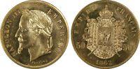 """Napoléon III 50 Francs 1862 """"Le Tricheur Movie Token"""" - PCGS MS64 Maz-1601 Essai"""