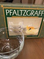 "NIB Pfaltzgraff Simplicity 901-215-00 Glass Bowls 4 6/8"" x 3"" Full Set of 4 NIB"