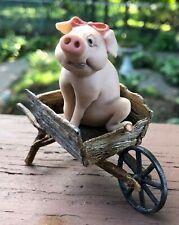 Miss Pig Sitting In Wheelbarrow Signed Lowell Davis Scotland 1984