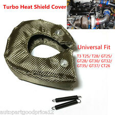 New T3 Titanium Autos Turbo Blanket Heat Shield Barrier Turbocharger Cover Wrap