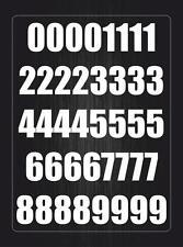 Kit 40x pegatina sticker adesivi adhesivo numero numeros auto moto vinilo blanco