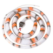Fake Realistic Looking 48 Inch Curled Up Rubber Grey Banded King Snake