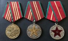 RUSSIAN SOVIET MEDALS Excellent Long IRREPROACHABLE Service in RED ARMY ! 1-3 cl