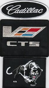 FEROCIOUS CADILLAC CTS-V SEW/IRON ON PATCH BLACK EMBROIDERED EMBLEM BADGE