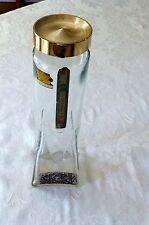 """LIQUOR BOTTLE VINTAGE IOWA 1955-1960  LIQUOR LABEL TALL 11"""" GOLD TOP LETTERS"""