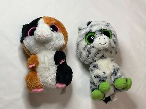 2 Ty Beanie Boo's Nibbles the Hamster & Zig Zag the Zebra