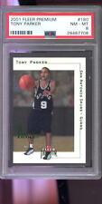 2001-02 Fleer Premium #180 Tony Parker ROOKIE RC PSA 8 Graded Basketball Card