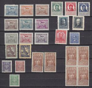 Poland - lot 1927-29 - MH. Cv $ 120