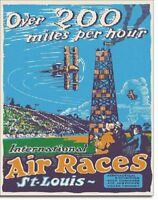 Air Races Airplane Vintage Aviation Flying Flight Wall Art Decor Metal Sign