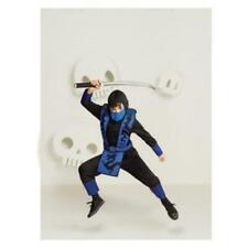 Hyde and Eek! Kids' Blue Ninja Halloween Costume Jumpsuit Medium 8-10