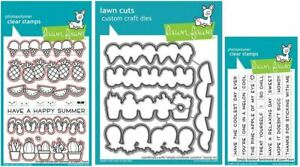 Lawn Fawn Stamp & Die Combo Set SIMPLY CELEBRATE SUMMER & SENTIMENTS ~2333, 2334