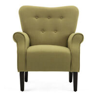 Fabric Club Chair Accent Arm Chair Upholstered Single Sofa Living Room Furniture