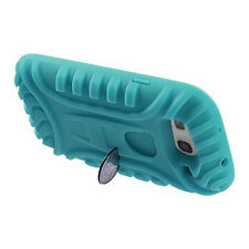 Samsung Galaxy III 3 i9300 Quater Stand SILICONE Skin Gel Case Phone Cover Teal