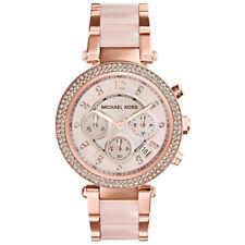 NUOVO Donna Michael Kors Parker Oro Rosa Blush Orologio-MK5896-RRP £ 229